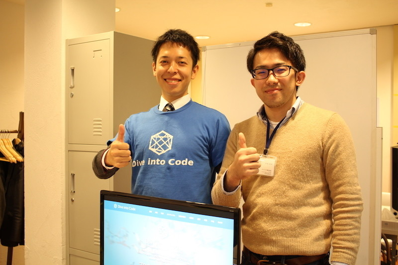 From the left Mr.Noro and Mr.Nakao